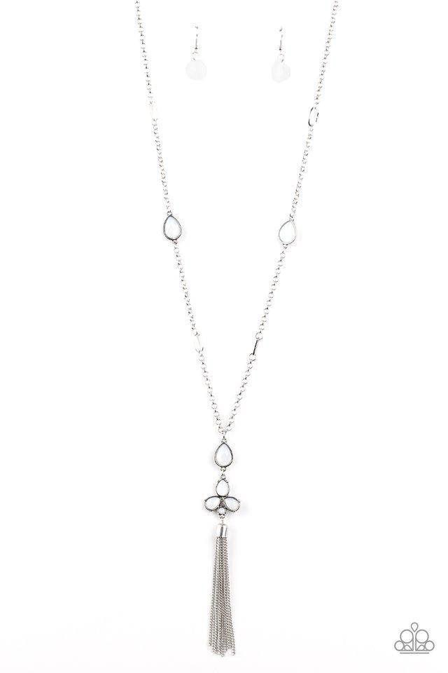 Eden Dew - White - Paparazzi Necklace Image