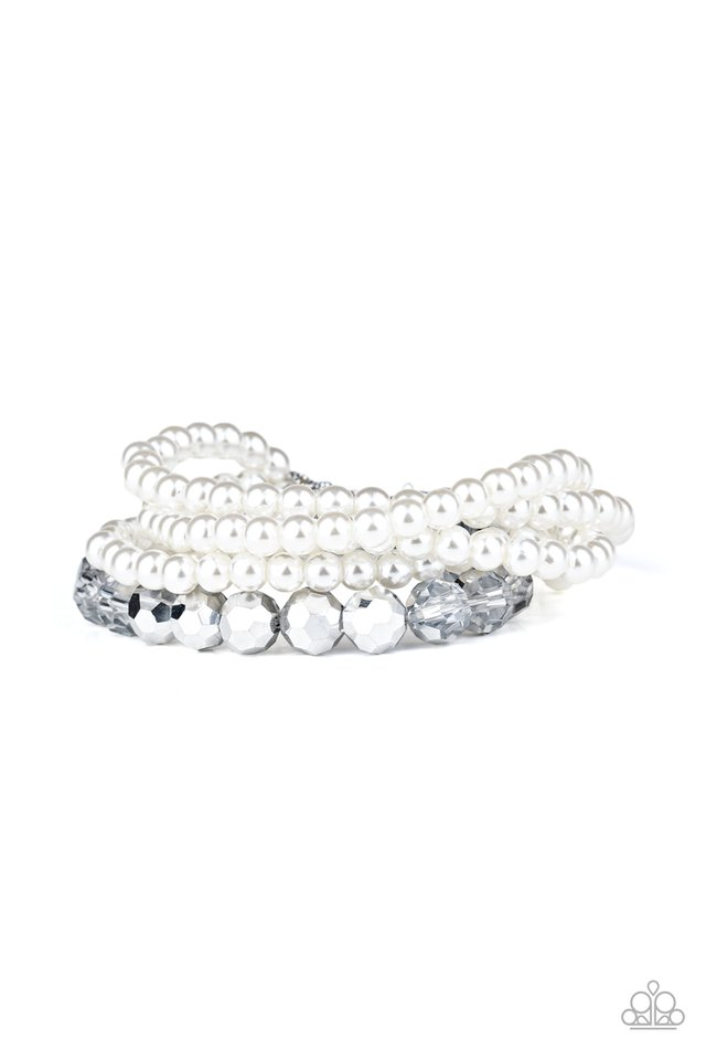 Refined Renegade - White - Paparazzi Bracelet Image