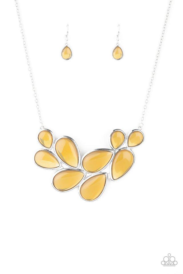 Iridescently Irresistible - Yellow - Paparazzi Necklace Image