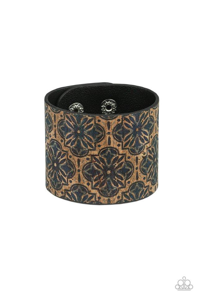 Cork Culture - Blue - Paparazzi Bracelet Image