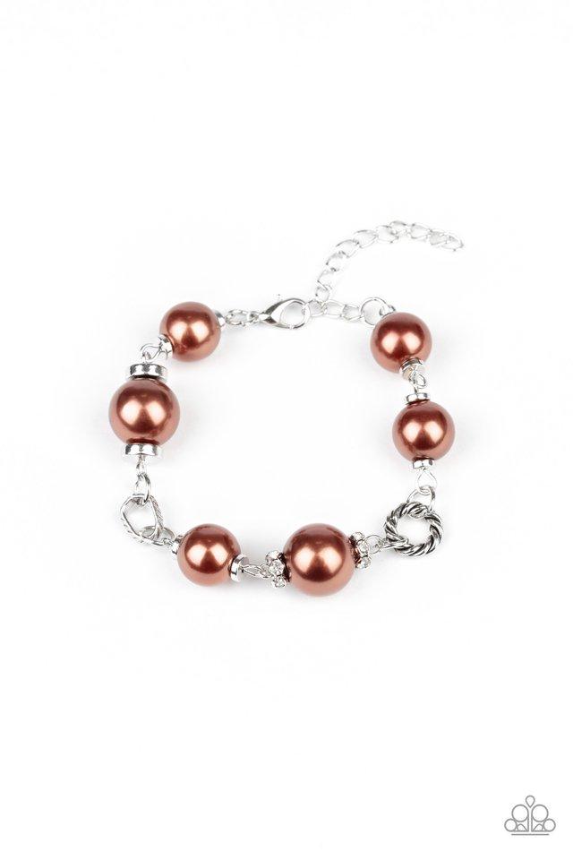 Boardroom Baller - Brown - Paparazzi Bracelet Image
