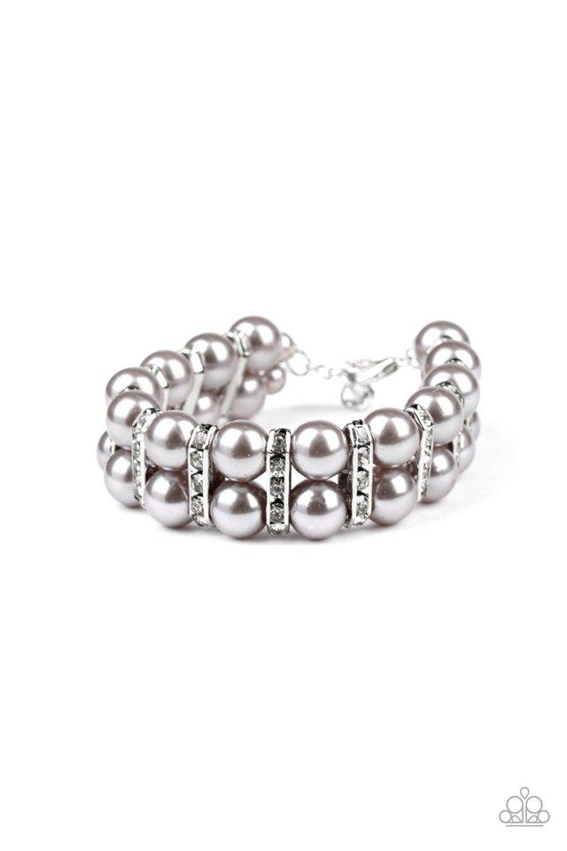 Glowing Glam - Silver - Paparazzi Bracelet Image
