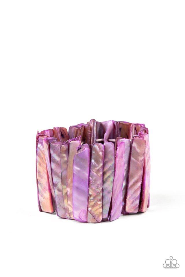 Beach Blast - Purple - Paparazzi Bracelet Image