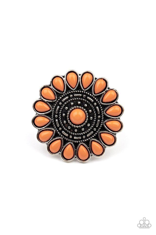 Posy Paradise - Orange - Paparazzi Ring Image