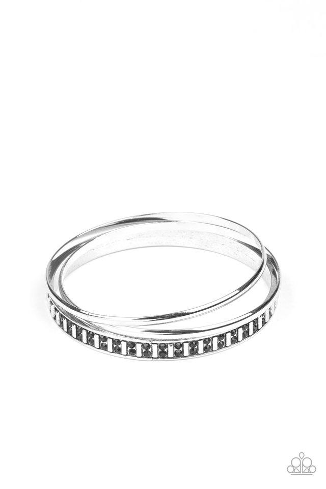 Flawless Flaunter - Black - Paparazzi Bracelet Image