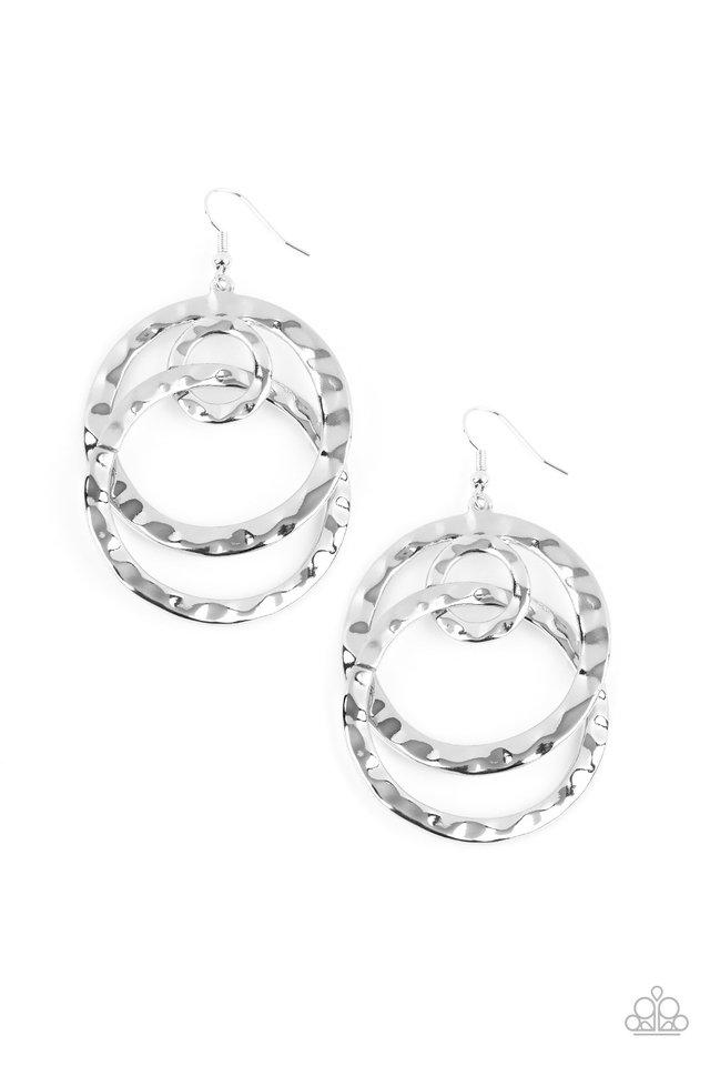 Modern Relic - Silver - Paparazzi Earring Image