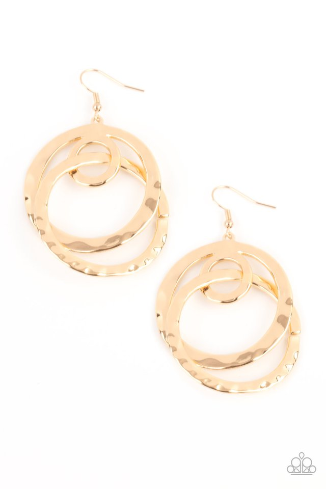 Modern Relic - Gold - Paparazzi Earring Image