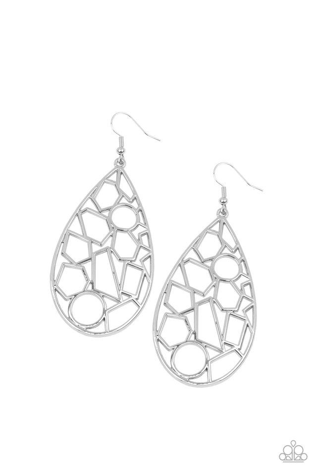 Reshaped Radiance - Silver - Paparazzi Earring Image