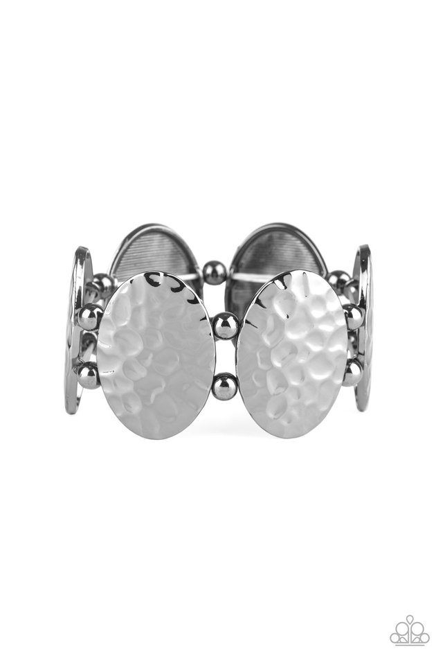 Radial Reflections - Black - Paparazzi Bracelet Image