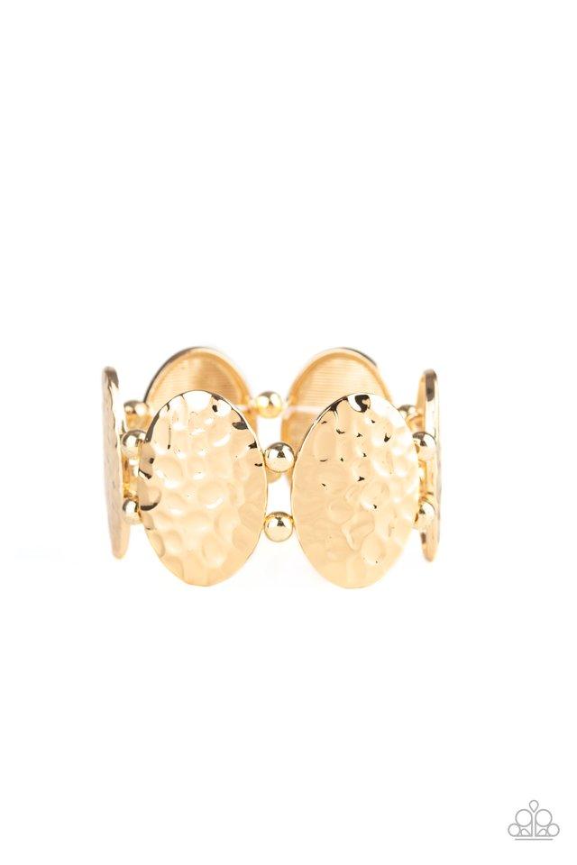 Radial Reflections - Gold - Paparazzi Bracelet Image