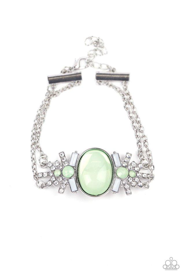 Brilliantly Boho - Green - Paparazzi Bracelet Image