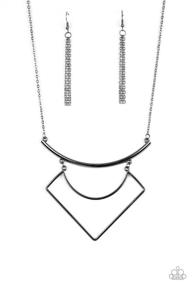 Egyptian Edge - Black - Paparazzi Necklace Image