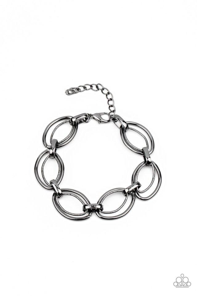 Simplistic Shimmer - Black - Paparazzi Bracelet Image