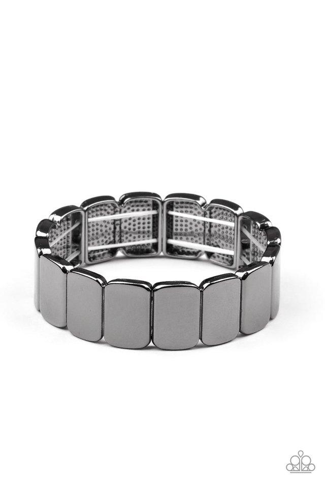 Retro Effect - Black - Paparazzi Bracelet Image