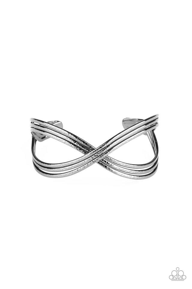 Infinitely Iridescent - Black - Paparazzi Bracelet Image