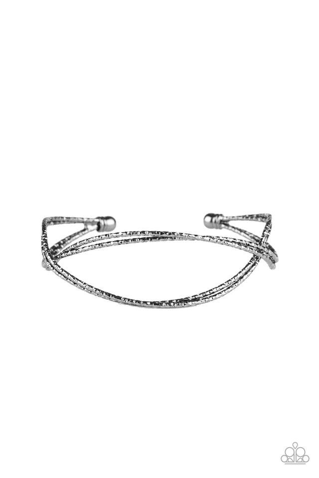 Bending Over Backwards - Black - Paparazzi Bracelet Image
