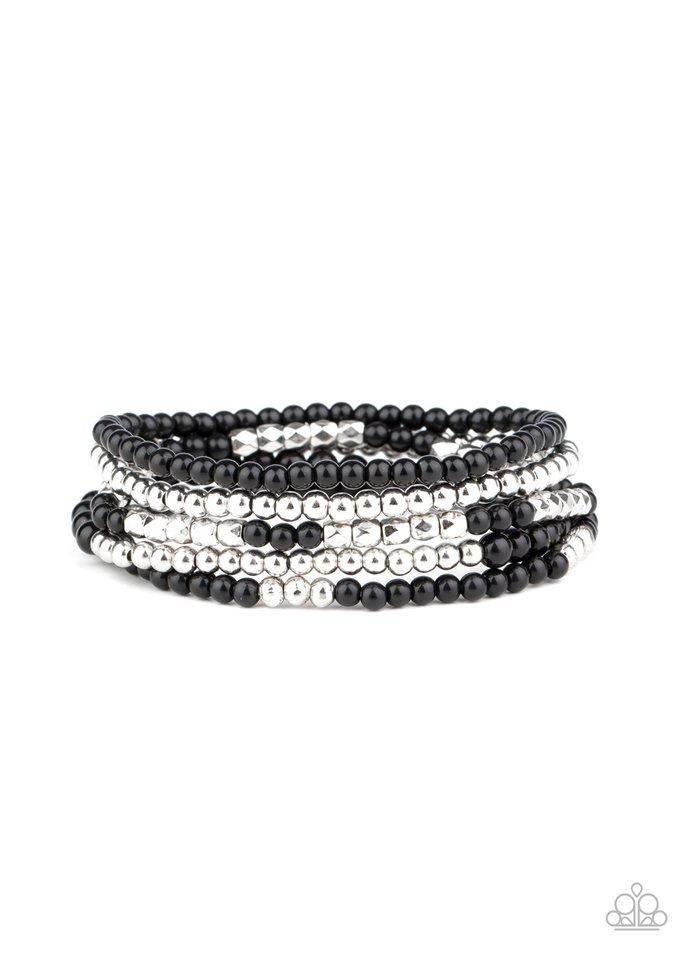 Stacked Showcase - Black - Paparazzi Bracelet Image