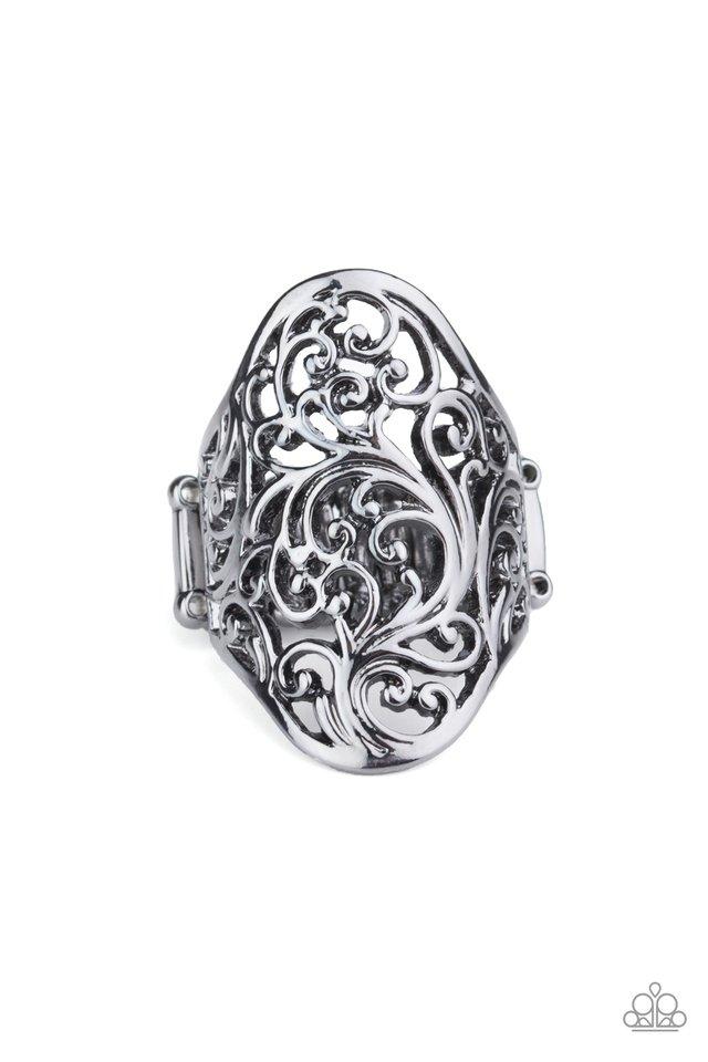 Vine Vibe - Black - Paparazzi Ring Image