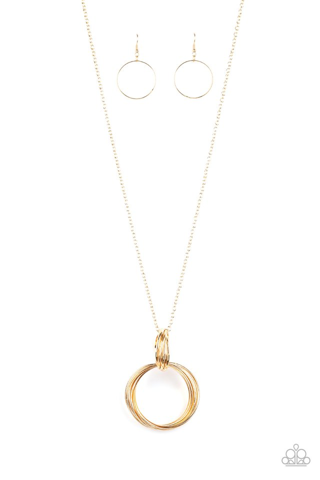 My Ears Are Ringing - Gold - Paparazzi Necklace Image
