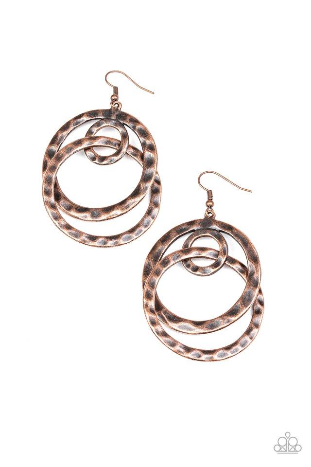 Modern Relic - Copper - Paparazzi Earring Image