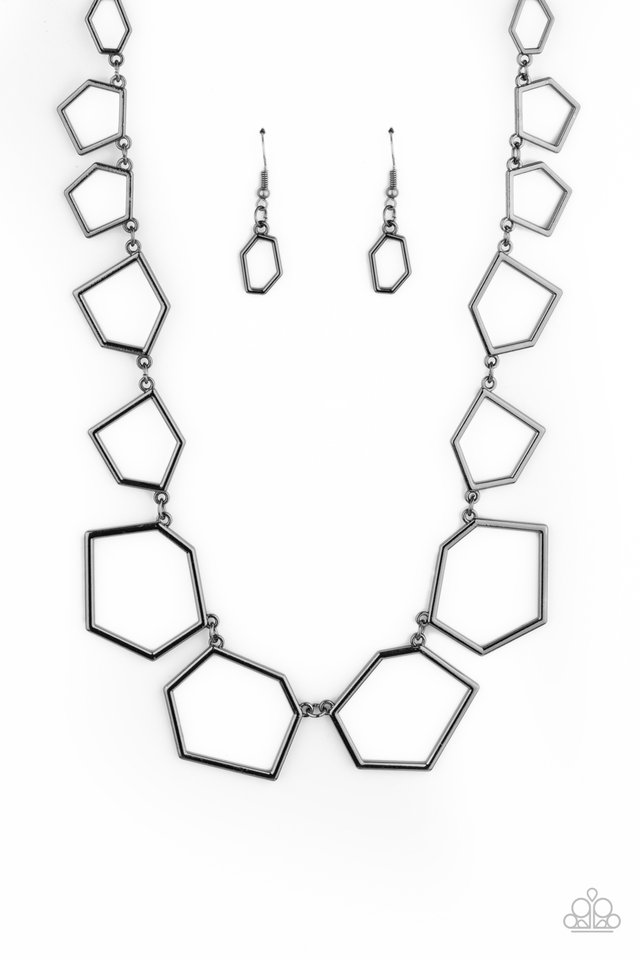 Full Frame Fashion - Black - Paparazzi Necklace Image