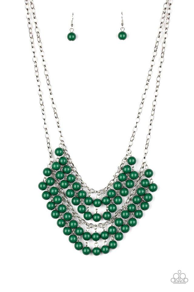 Bubbly Boardwalk - Green - Paparazzi Necklace Image