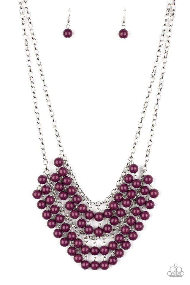 Bubbly Boardwalk - Purple - Paparazzi Necklace Image