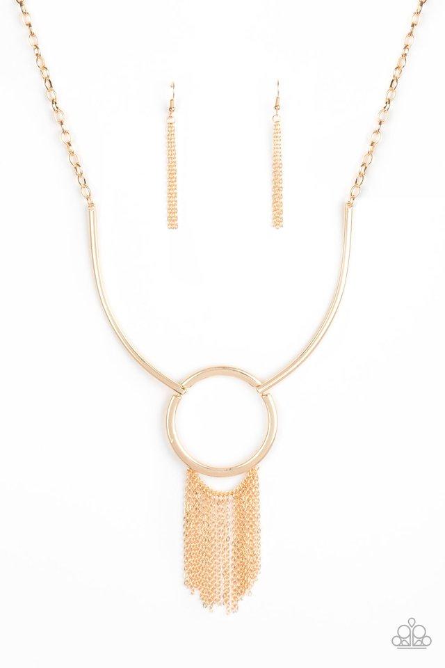 Pharaoh Paradise - Gold - Paparazzi Necklace Image