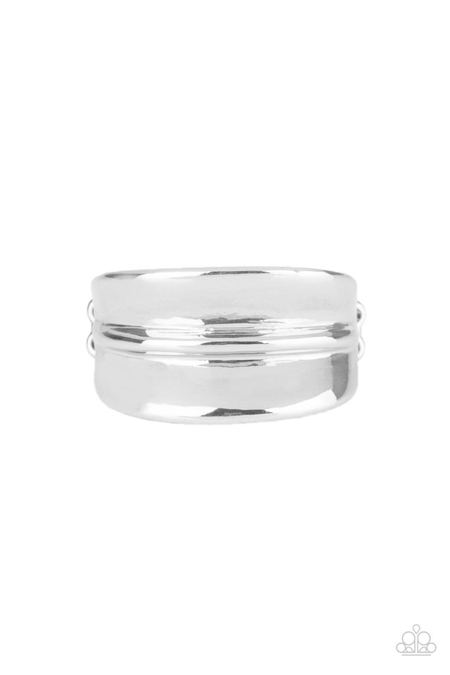 Band Together - Silver - Paparazzi Ring Image