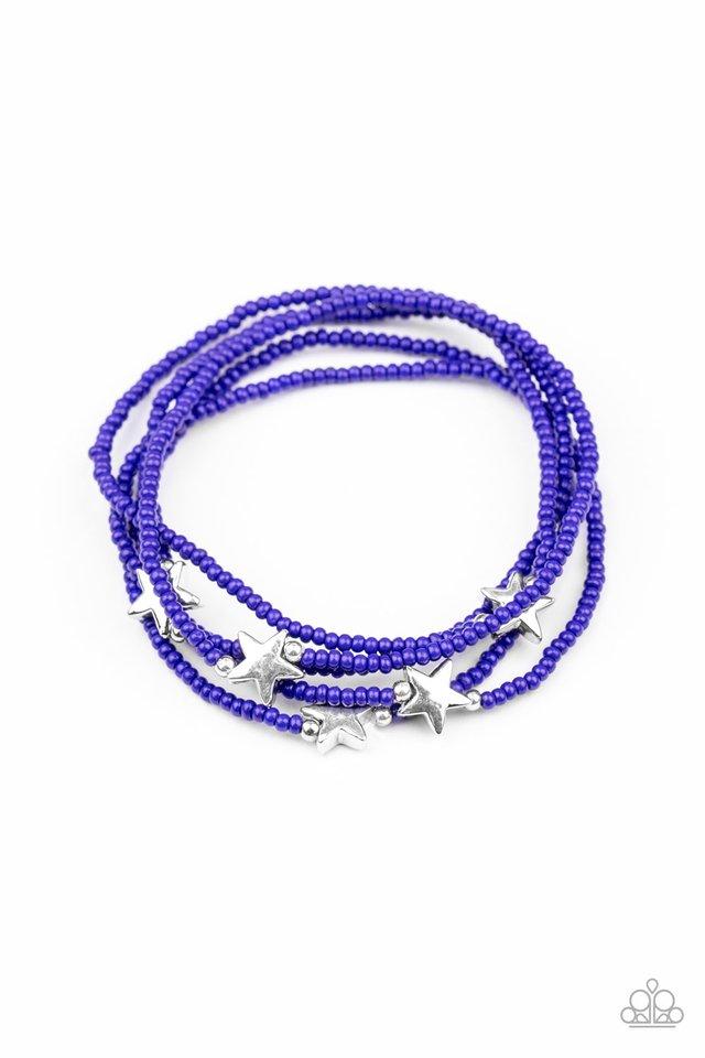 Pretty Patriotic - Blue - Paparazzi Bracelet Image