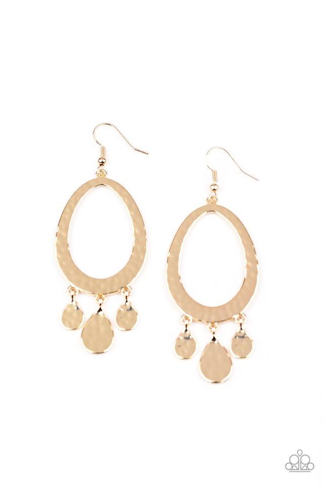 Taboo Trinket - Gold - Paparazzi Earring Image