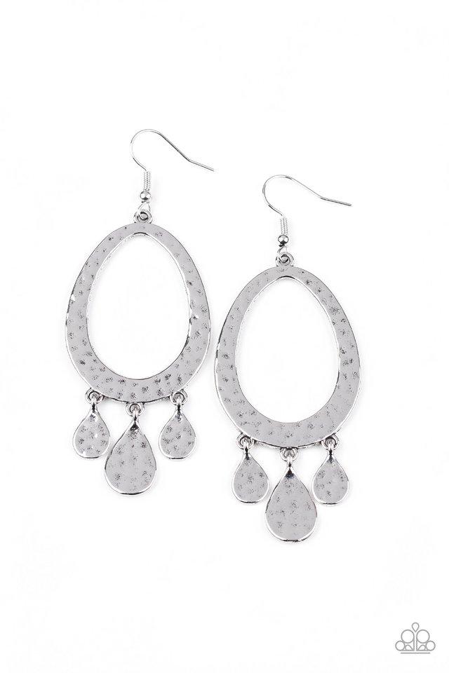 Taboo Trinket - Silver - Paparazzi Earring Image