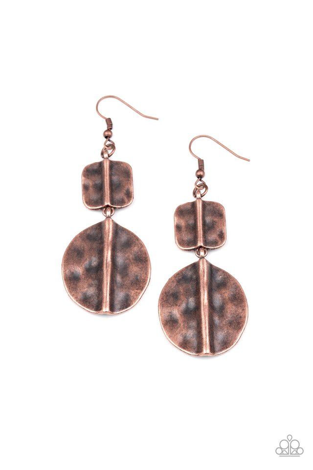 Lure Allure - Copper - Paparazzi Earring Image