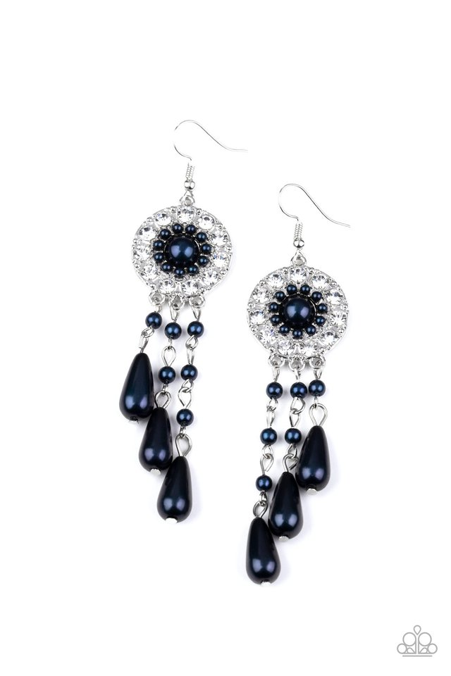 Dreams Can Come True - Blue - Paparazzi Earring Image