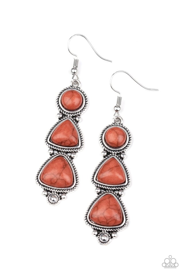 New Frontier - Brown - Paparazzi Earring Image