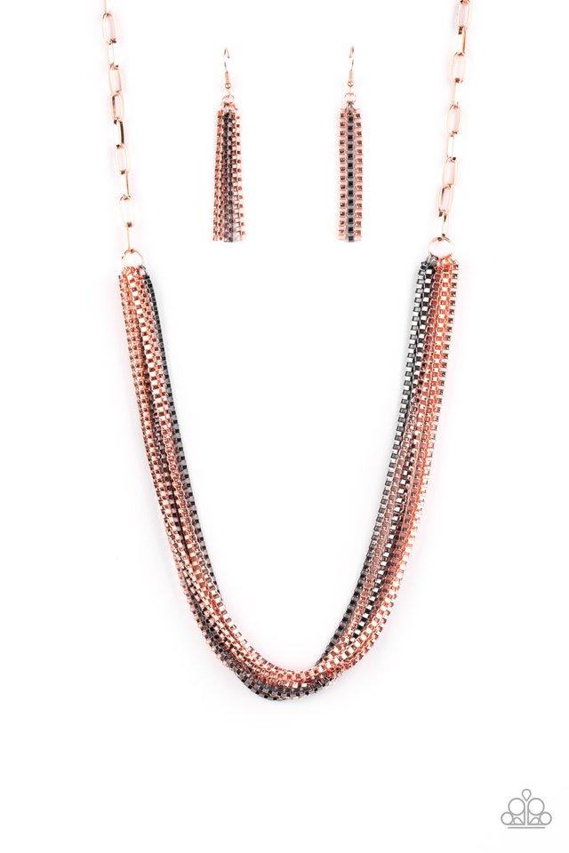 Beat Box Queen - Copper - Paparazzi Necklace Image