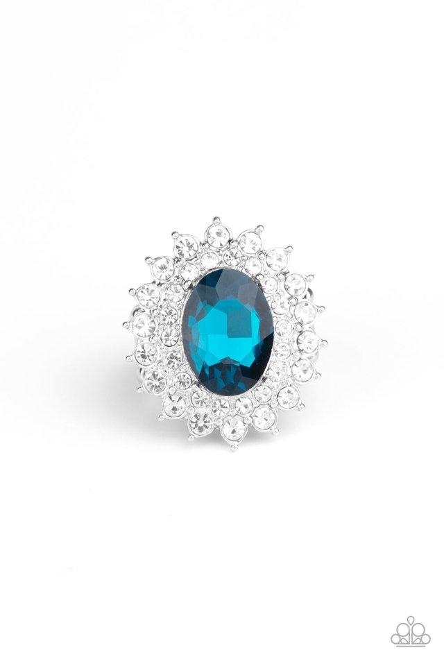 Secret Garden Glow - Blue - Paparazzi Ring Image