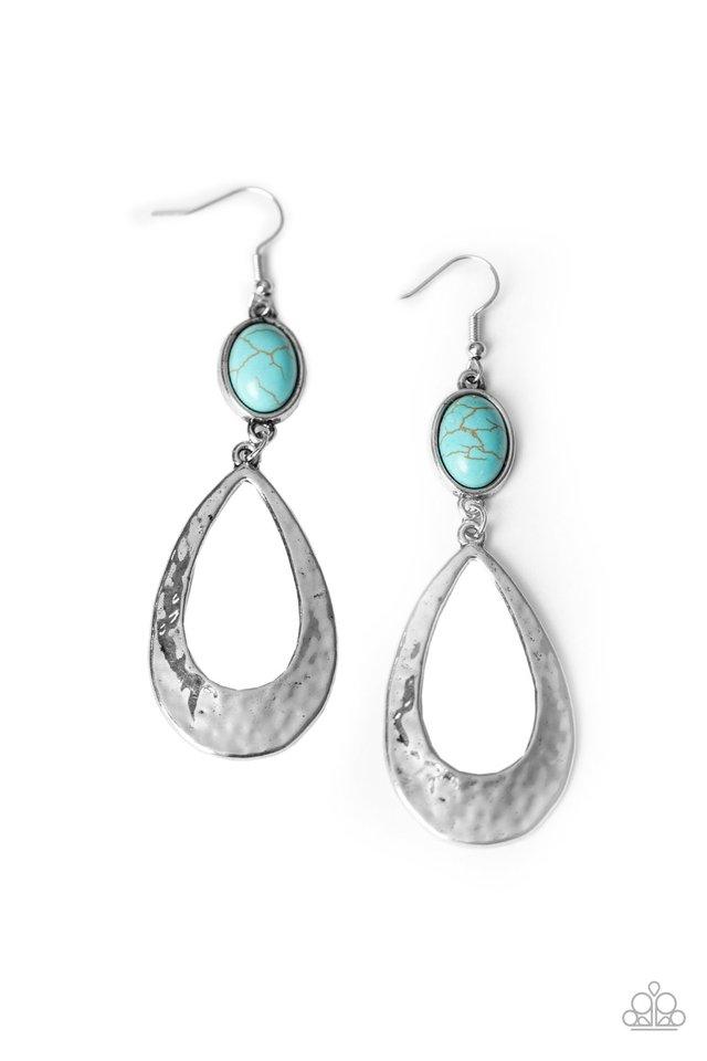 Badlands Baby - Blue - Paparazzi Earring Image