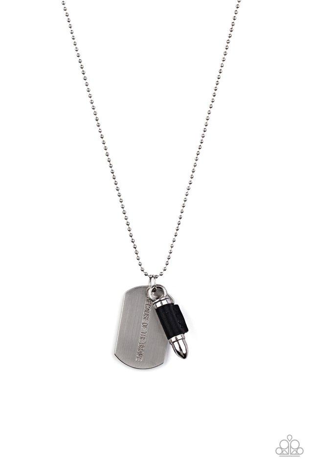 Proud Patriot - Black - Paparazzi Necklace Image