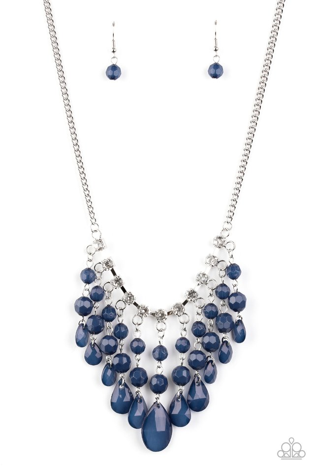 Social Network - Blue - Paparazzi Necklace Image