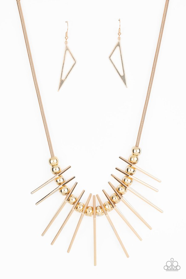 Fully Charged - Gold - Paparazzi Necklace Image