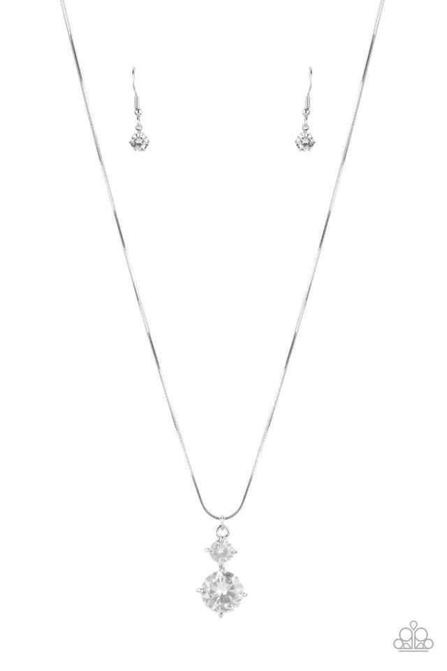 Top Dollar Diva - White - Paparazzi Necklace Image