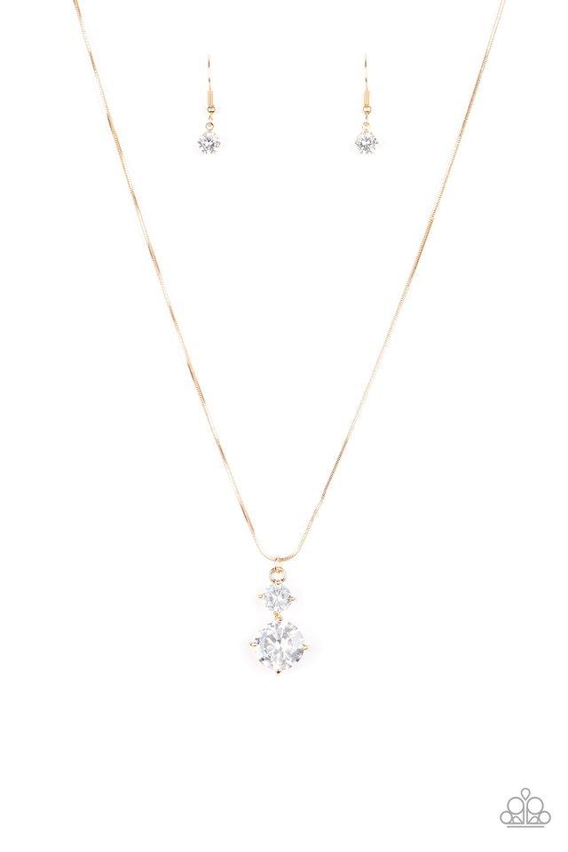 Top Dollar Diva - Gold - Paparazzi Necklace Image