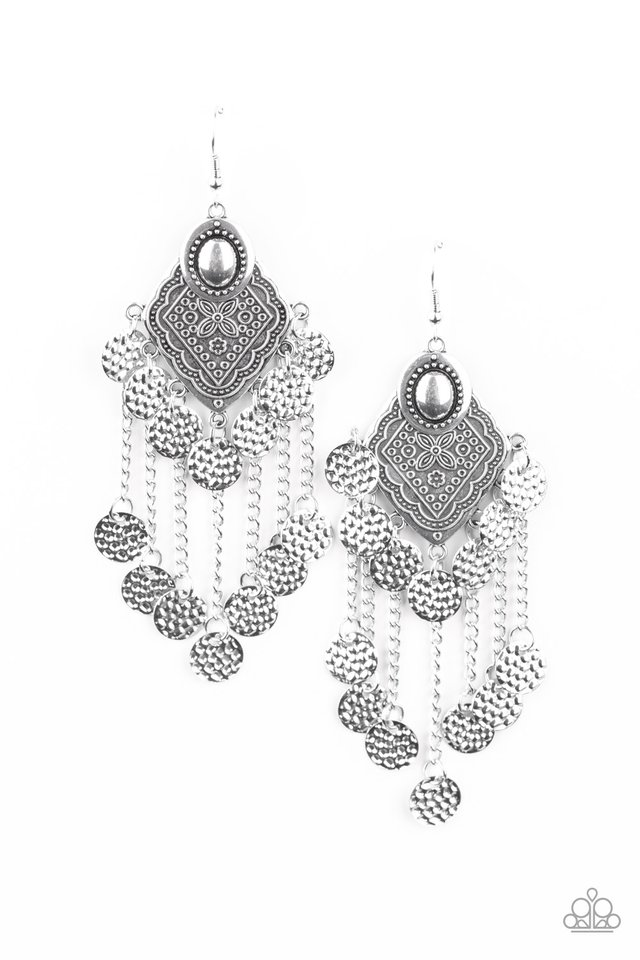 Garden Explorer - Silver - Paparazzi Earring Image