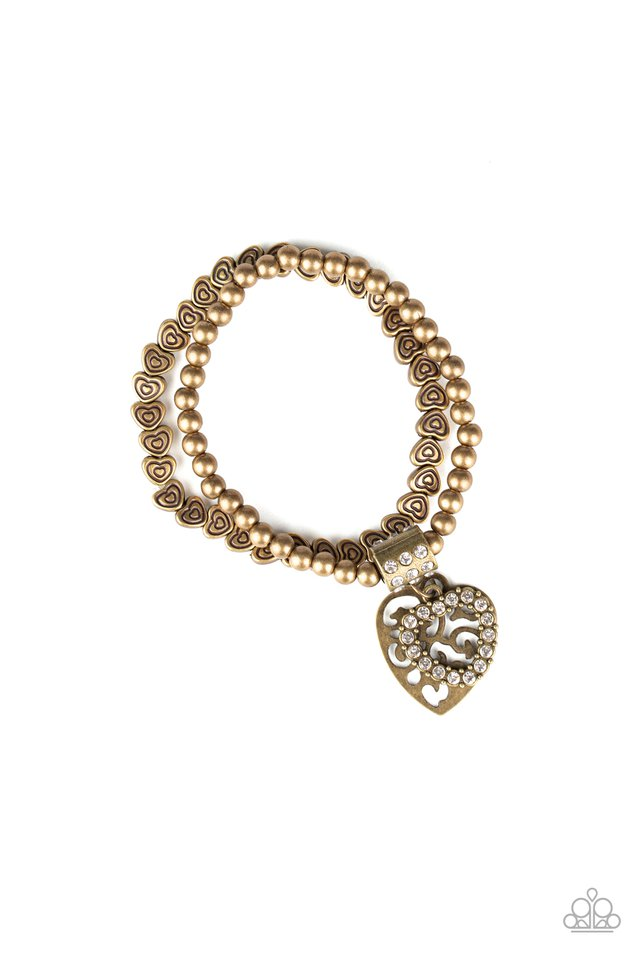 Think With Your Heart - Brass - Paparazzi Bracelet Image