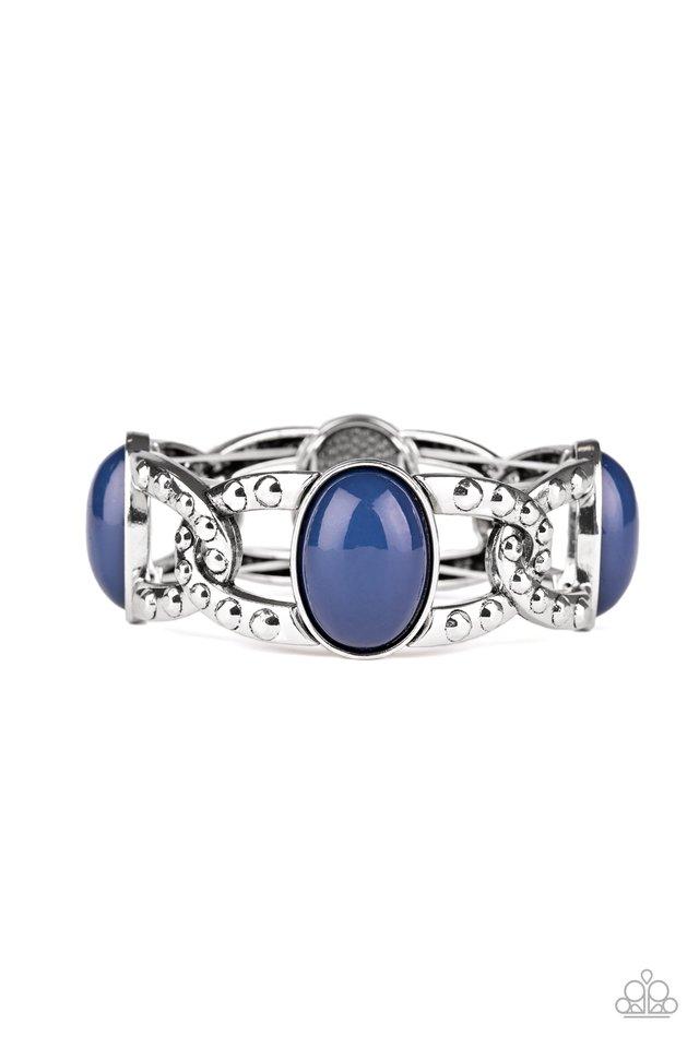 Dreamy Gleam - Blue - Paparazzi Bracelet Image