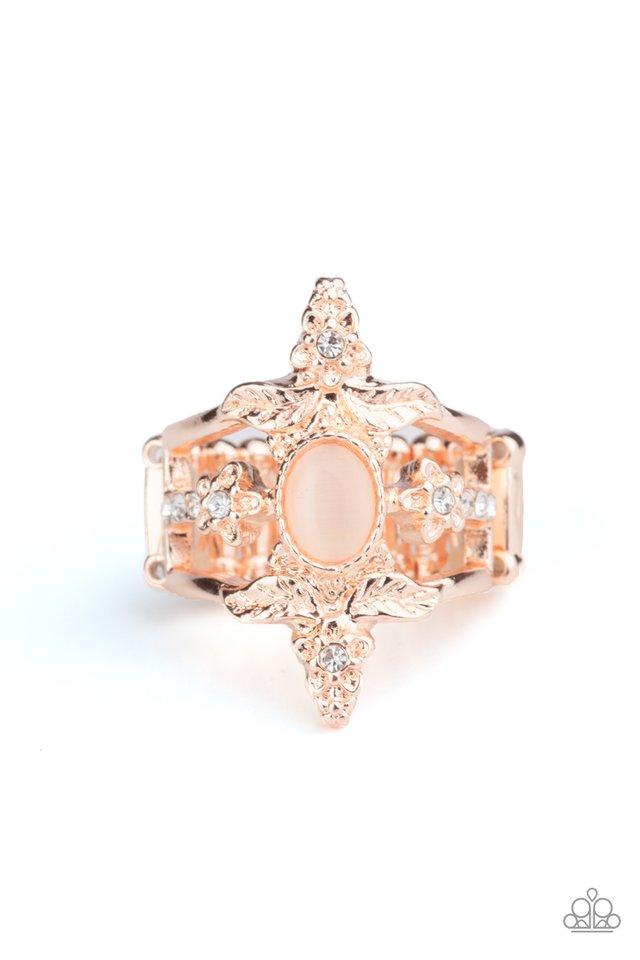 Fleur de Fancy - Rose Gold - Paparazzi Ring Image