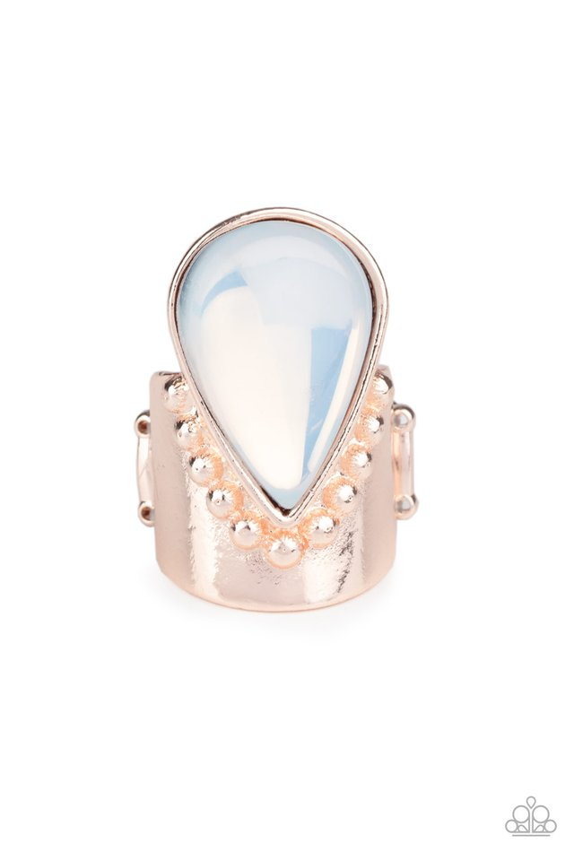 Opal Mist - Rose Gold - Paparazzi Ring Image