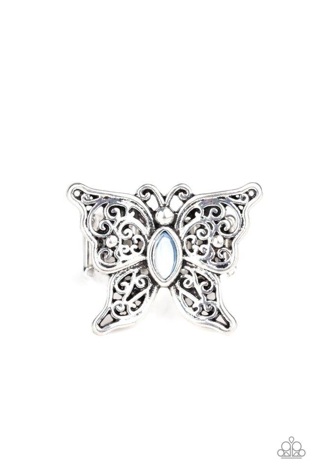 Flutter Flavor - Blue - Paparazzi Ring Image