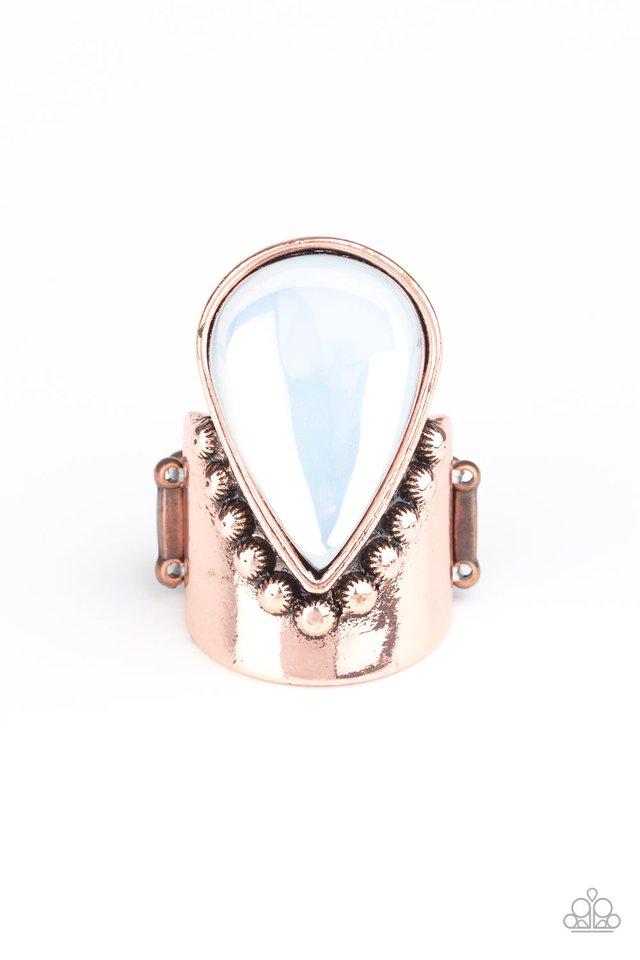 Opal Mist - Copper - Paparazzi Ring Image